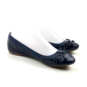 Sperry Top Sider Elise Perforated Bow Flat Womens